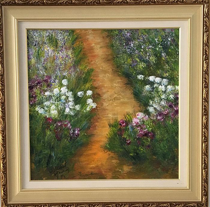 C. Monet - Caminho com flores - CM040-19