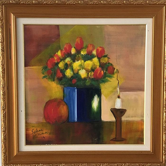 Carlos Scliar - Vasos de flores -  CS003-19