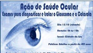 Exames oftalmológicos gratuitos na Cidade da Luz