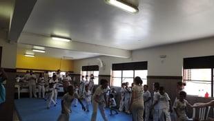 Foi realizado  no dia 18/11, o batizado de Capoeira dos 50 alunos do CCAPJ.