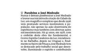 Manifestação do Dr. Inaldo da Paixão, a Medrado, no Jornal A Tarde de 13/2/2020