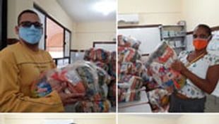 Escola Municipal Carlos Murion realiza entrega de cestas básicas