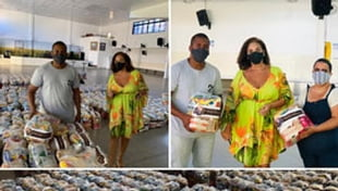 A Cidade da Luz recebeu, da Sodiê, 500 cestas de alimentos