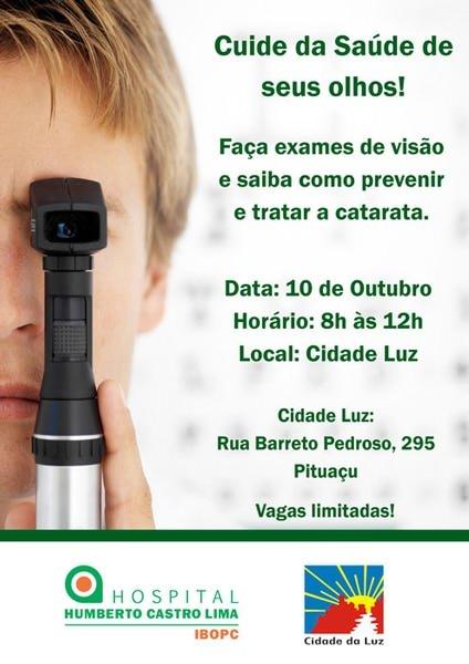Exames específicos serão realizados gratuitamente no dia 10