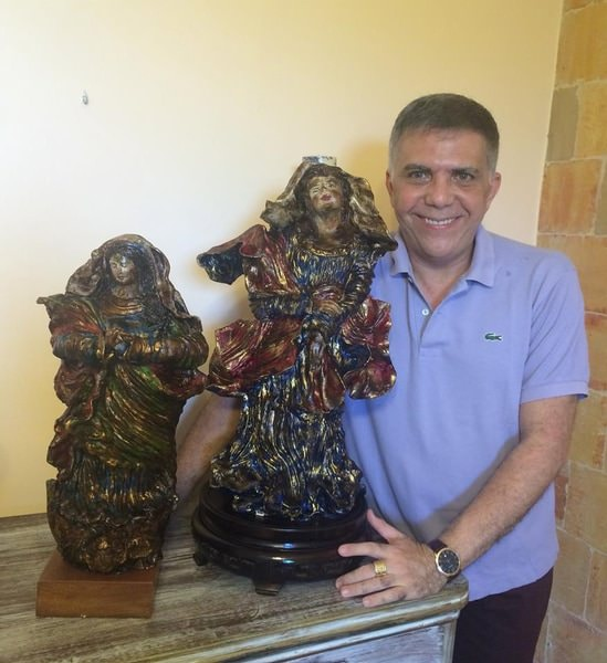 Esculturas sacras - autoria de frei Agostinho de Jesus (através do médium José Medrado)