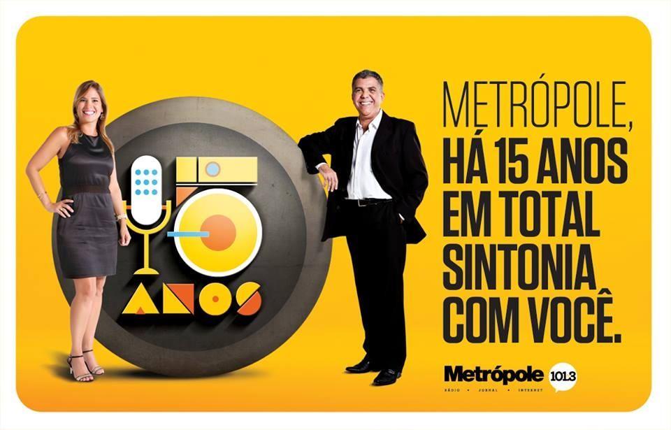 Rádio Metrópole comemora 15 anos e o programa Sintonia com José Medrado faz parte desta festa.