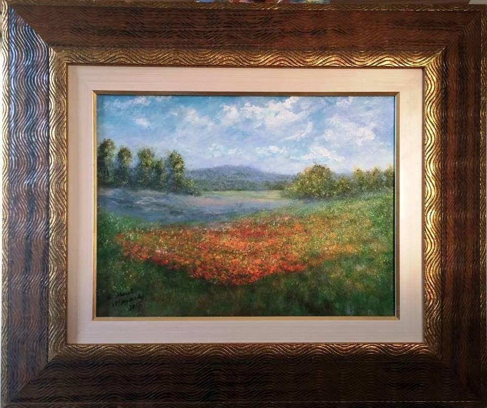 Obra de Monet recebida em 10.01.2015 pelo médium José Medrado