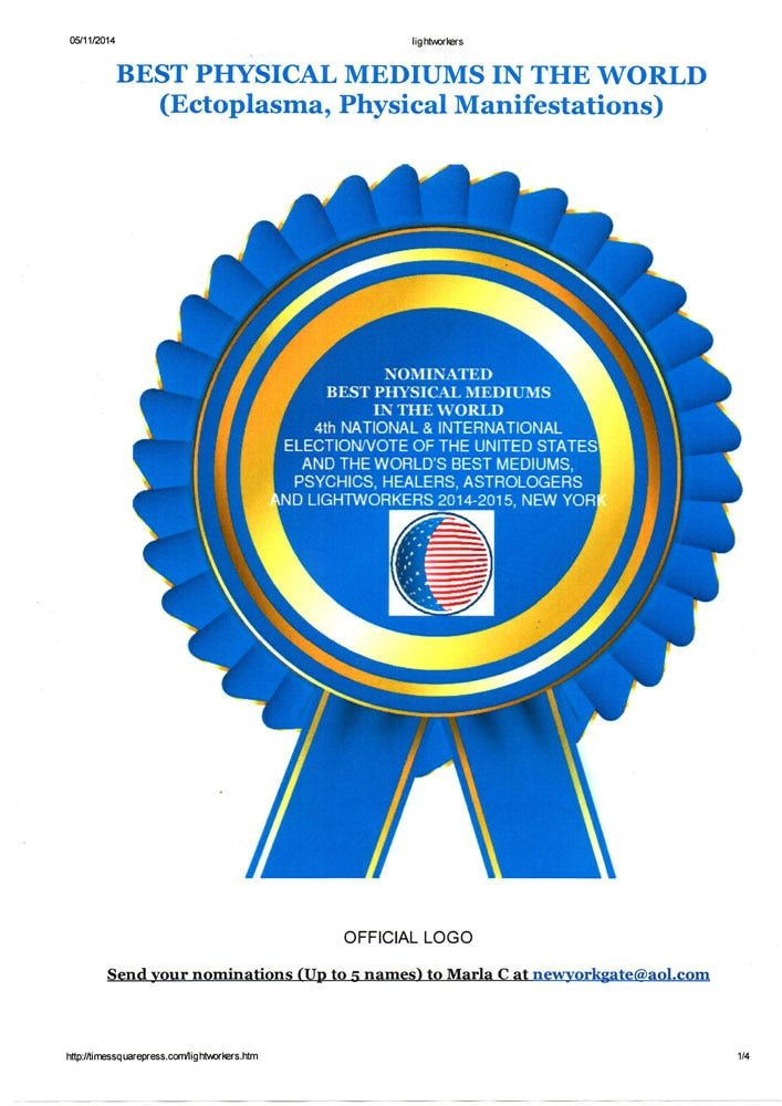 Medrado é indicado para concorrer à 4ª Eleição dos Melhores Médiuns do Mundo realizada pela Times Square