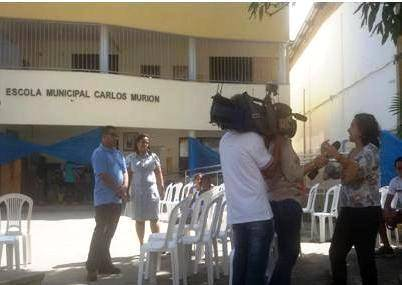 TV Bahia visita a Escola Carlos Murion