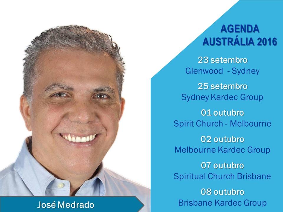 Agenda José Medrado - Austrália 2016