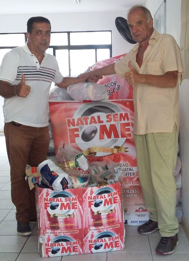 Doação de 100 cestas básicas